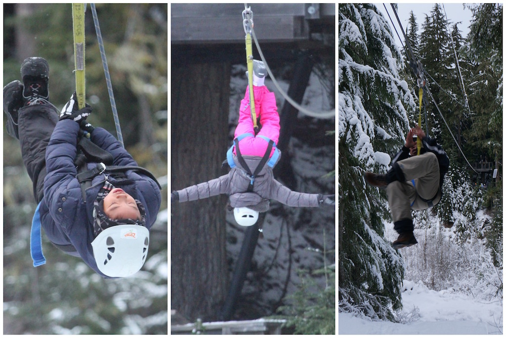 Whistler Ziptrek with kids