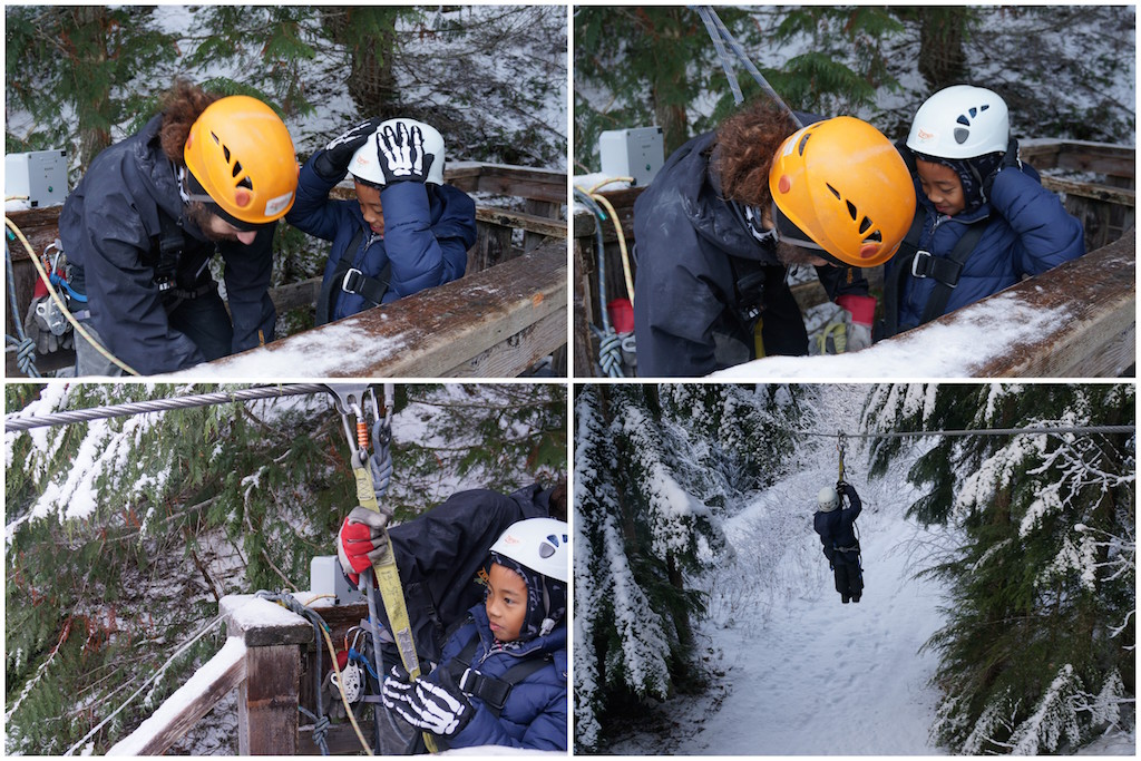 Whistler Ziptrek ziplining with kids