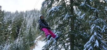 Winter Ziplining in Whistler with Ziptrek Ecotours