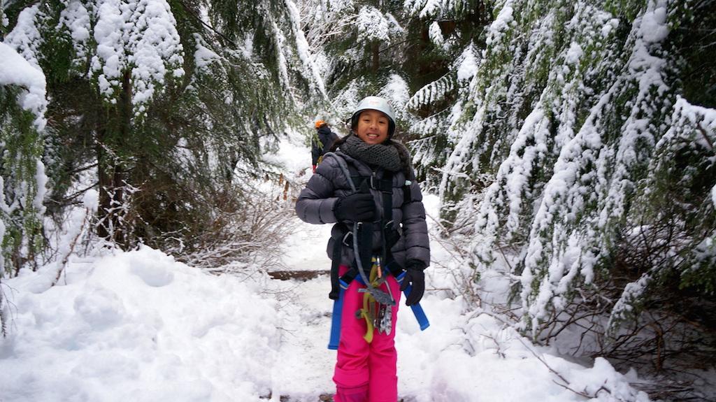 Whistler ziplining with kids