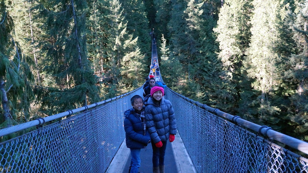 CApilano Suspension Bridge with kids