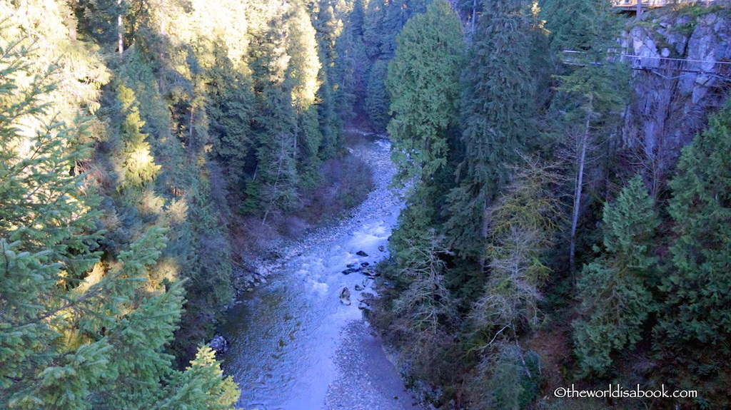 Capilano River from bridge