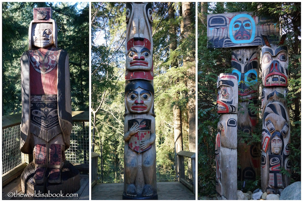 Capilano Suspension Bridge totem poles