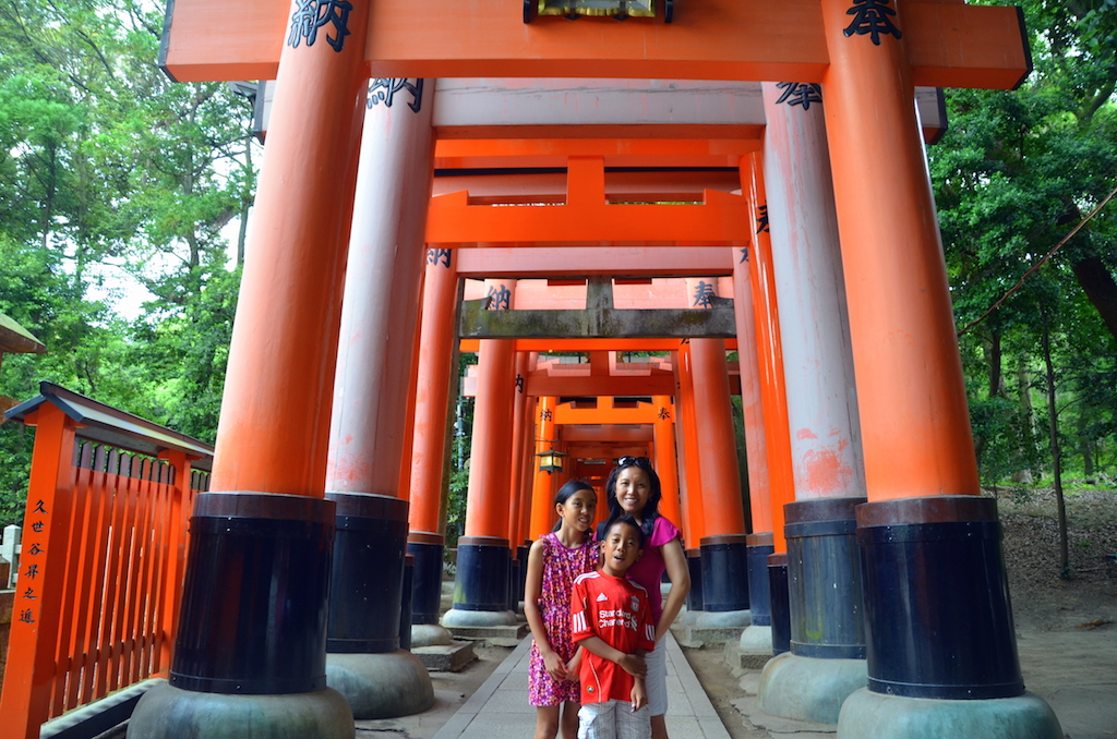 Fushimi Inari Shrine with kids