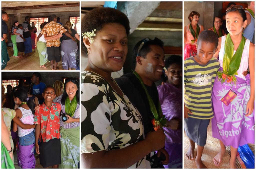 Fiji Sigatoka Village visit dancing