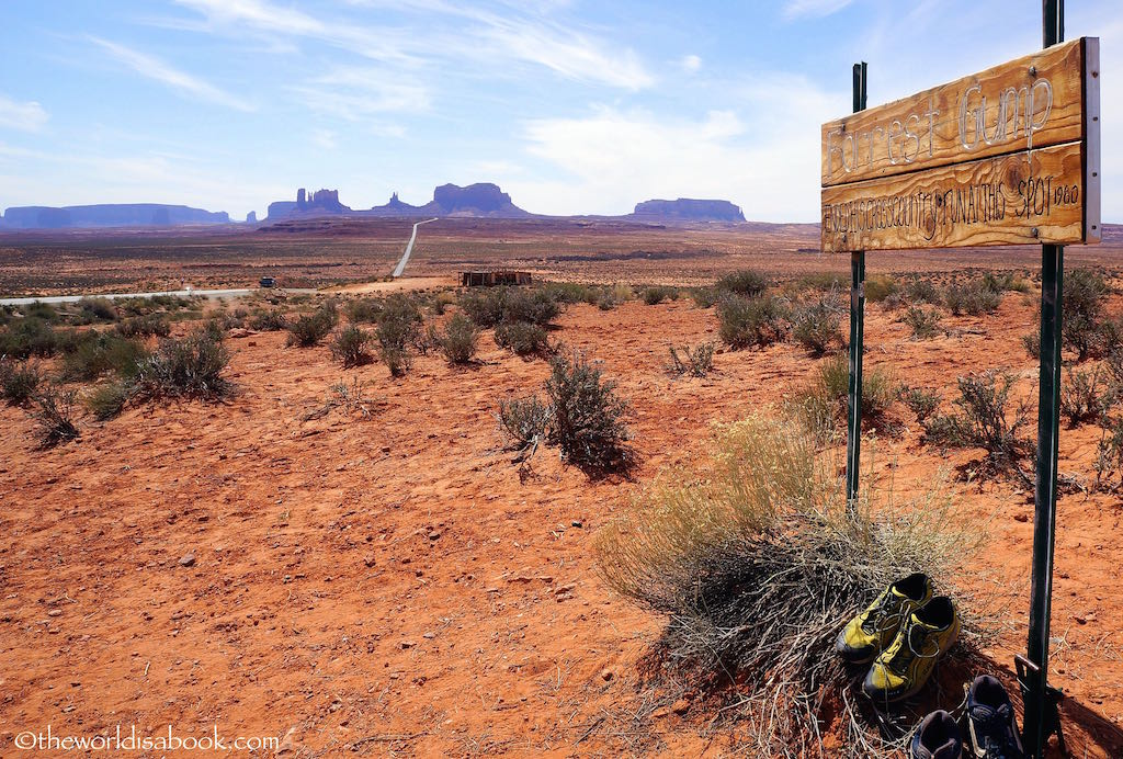 Monument Valley Forrest Gump sign