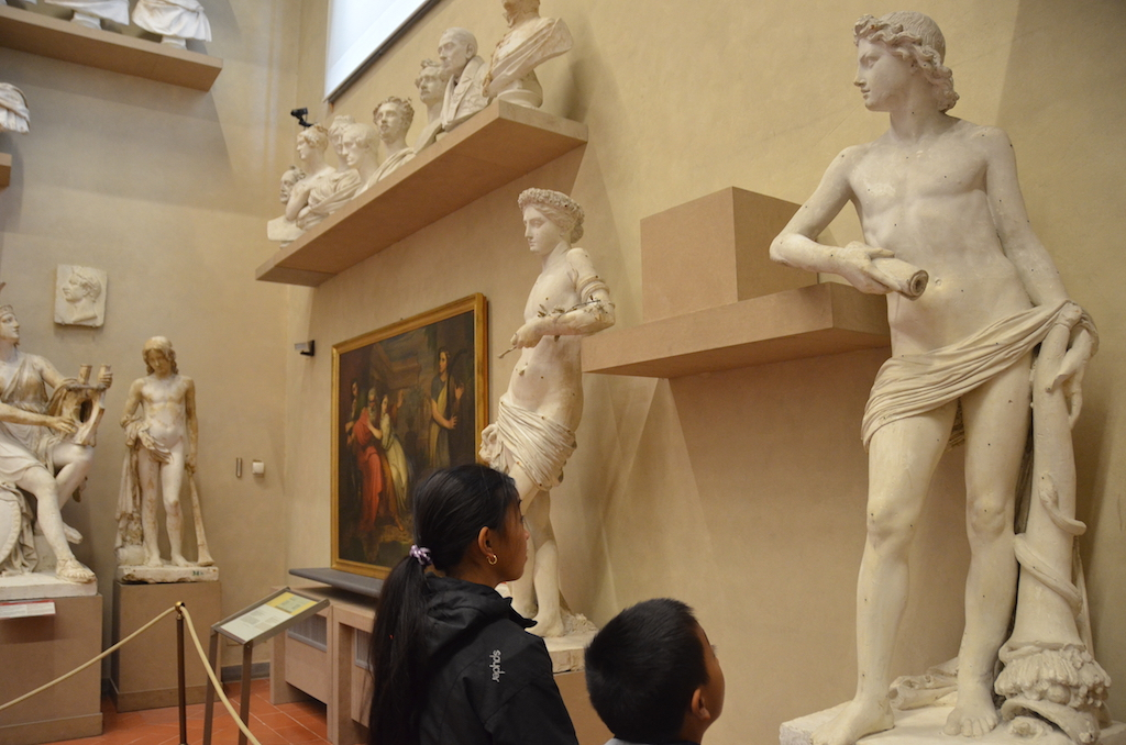 Florence Accademia with Kids
