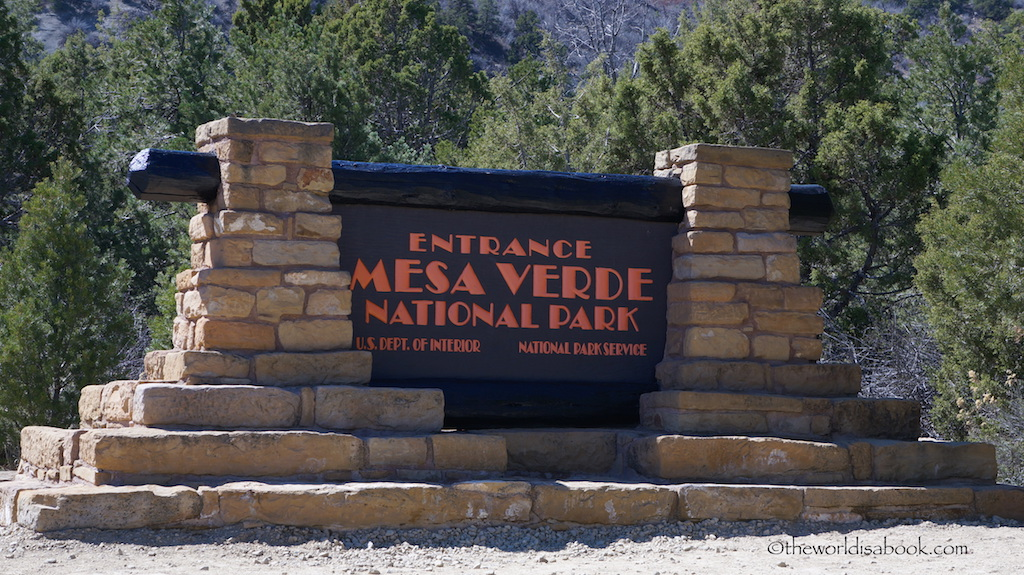 Mesa Verde National Park sign