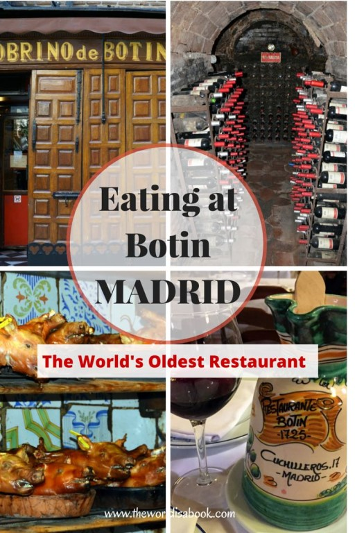 Eating at Botin Madrid