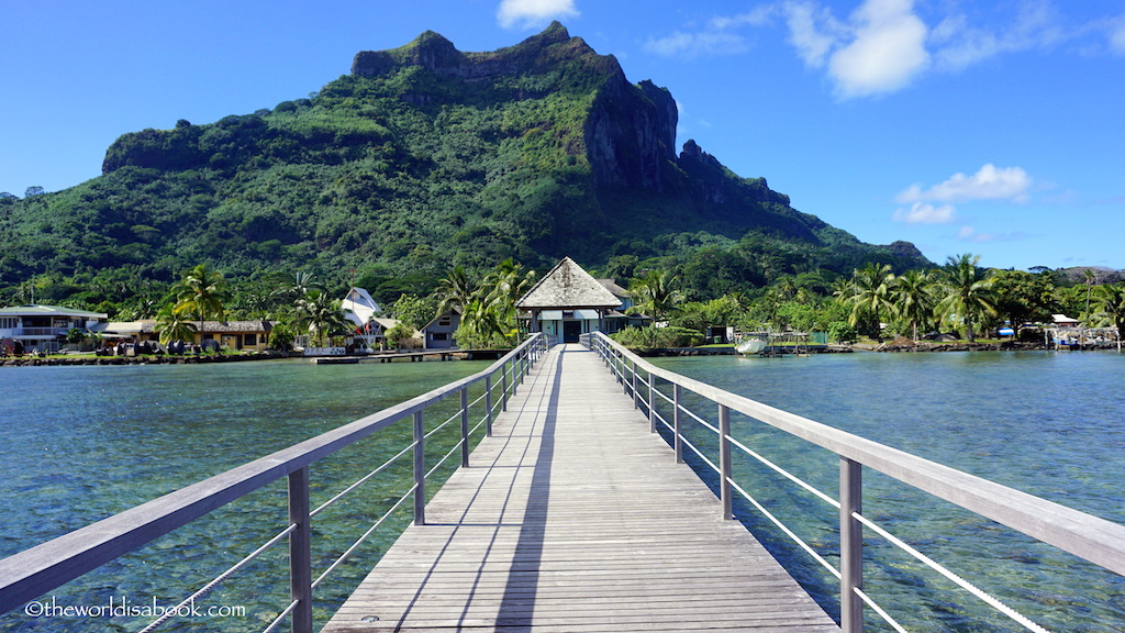 Bora Bora bridge to Vaitape