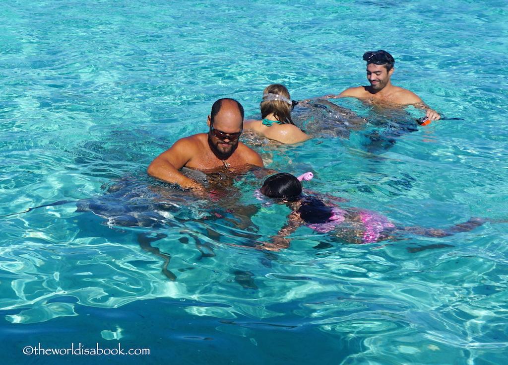 Bora Bora with kids stingray