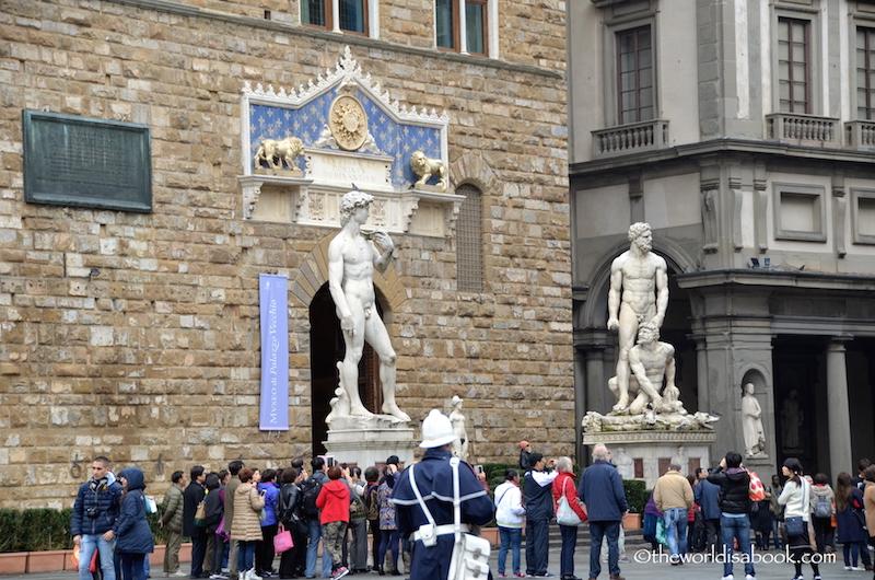 Florence David replica Piazza della Signoria