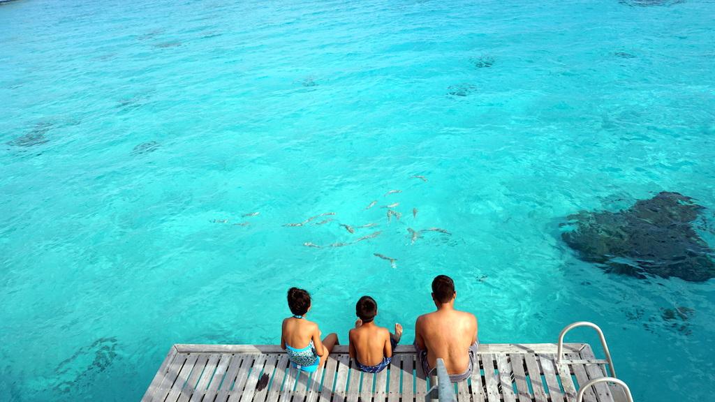 Hilton Bora Bora overwater bungalow deck