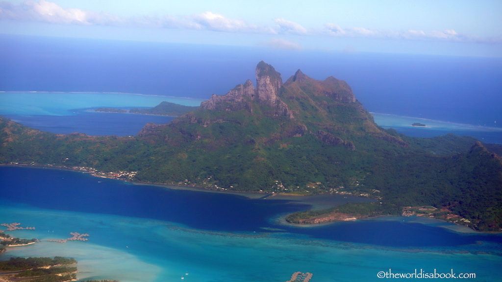 Mount Otemanu from above Bora Bora