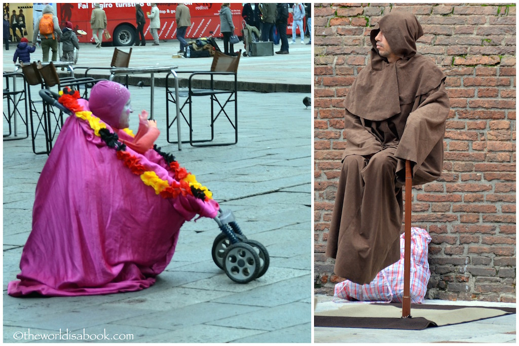 Bologna street entertainers