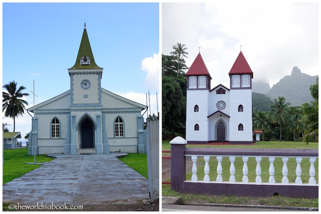 Moorea Island tour churches