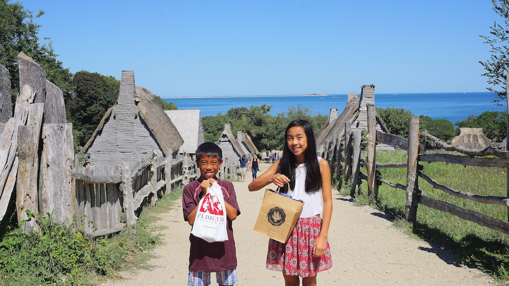 Plimoth Plantattion with kids