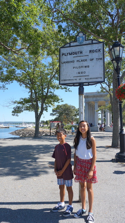 Plymouth Rock with kids