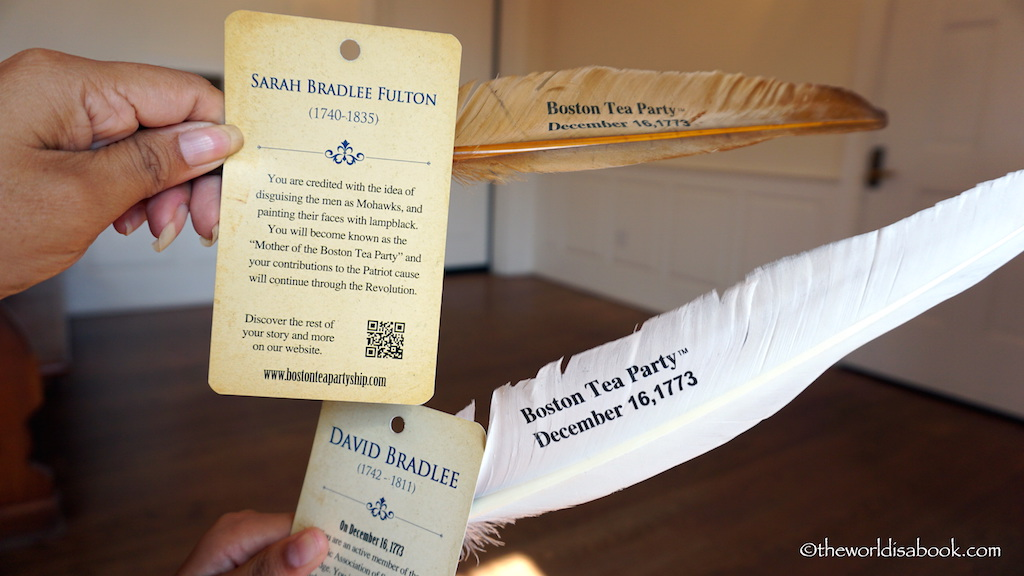 Boston Tea Party Museum identity cards