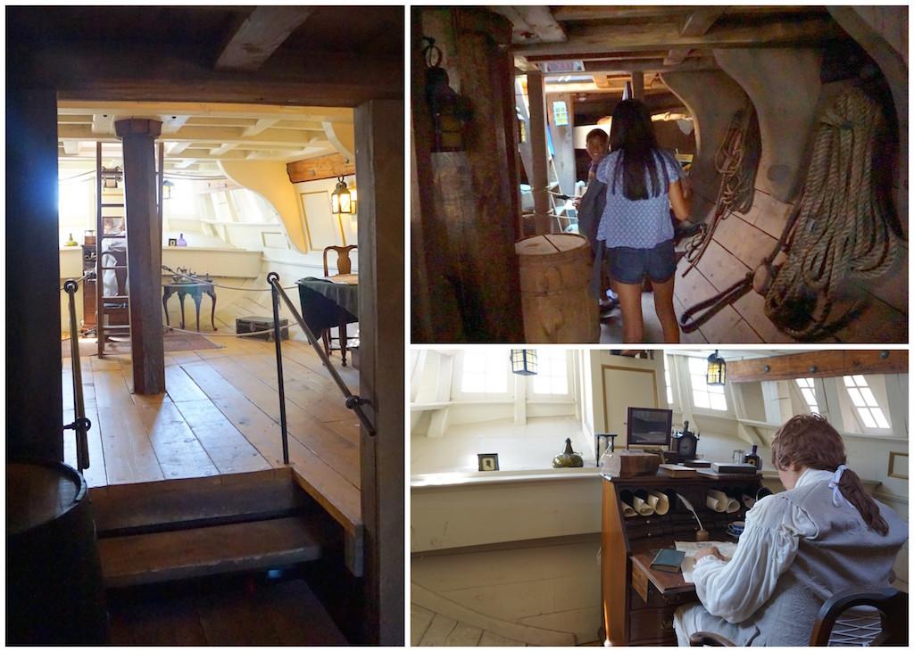 Boston Tea Party ship interior