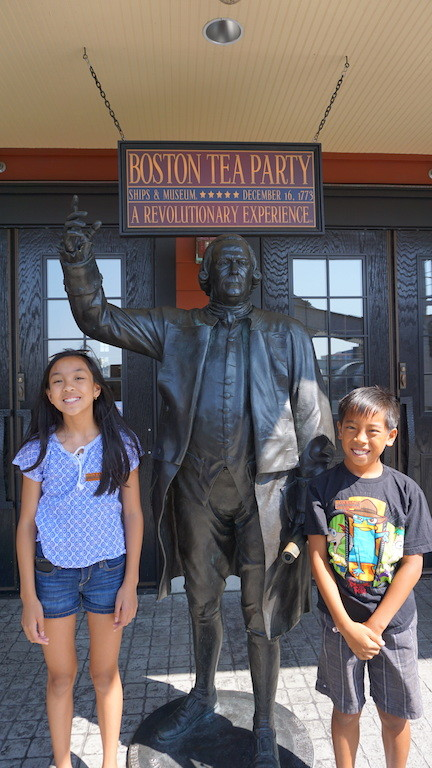 Boston tea Party Museum with kids