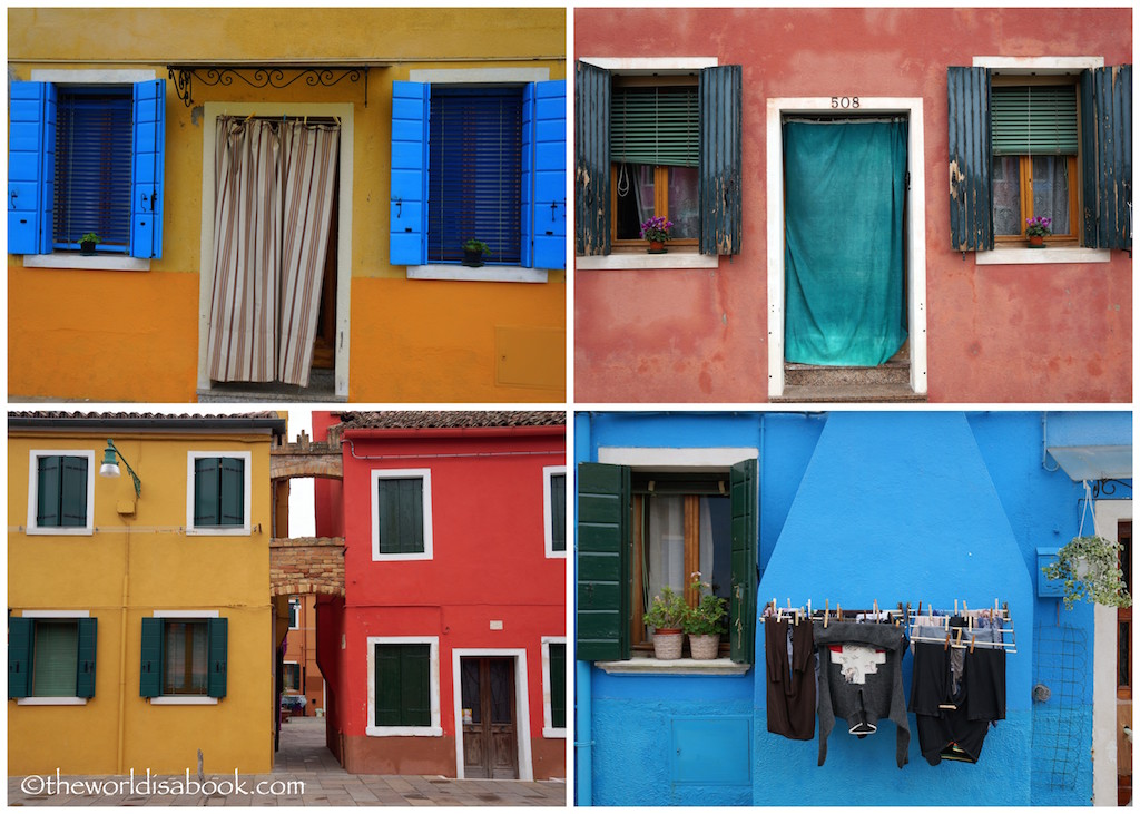 Burano colored houses windows