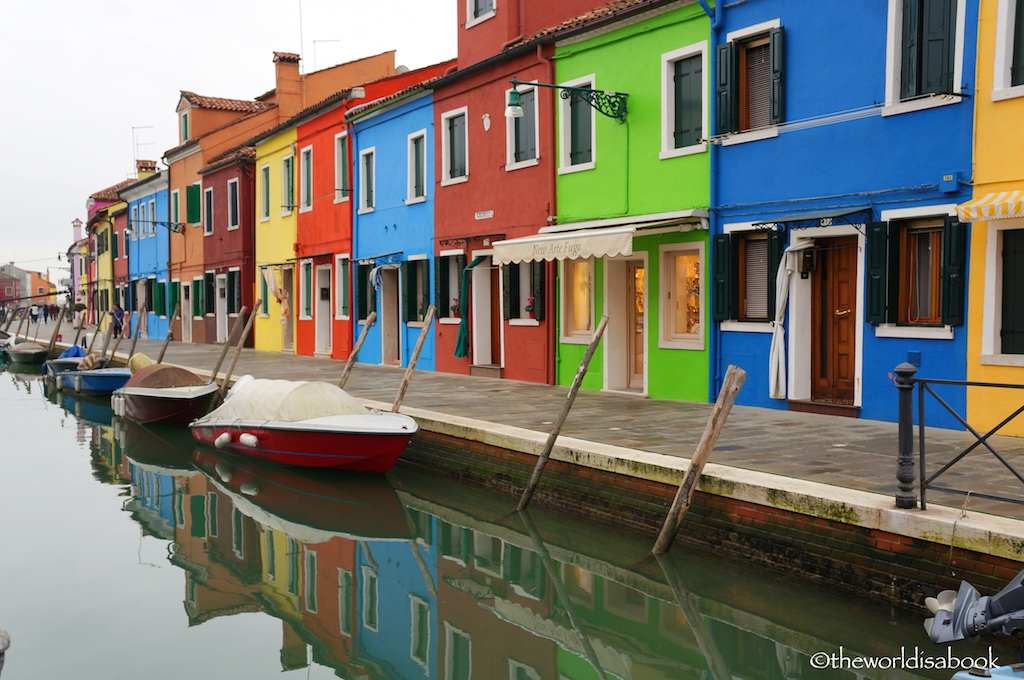 Burano color houses