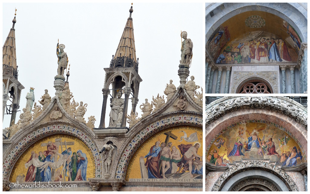 St marks Basilica exterior mosaics