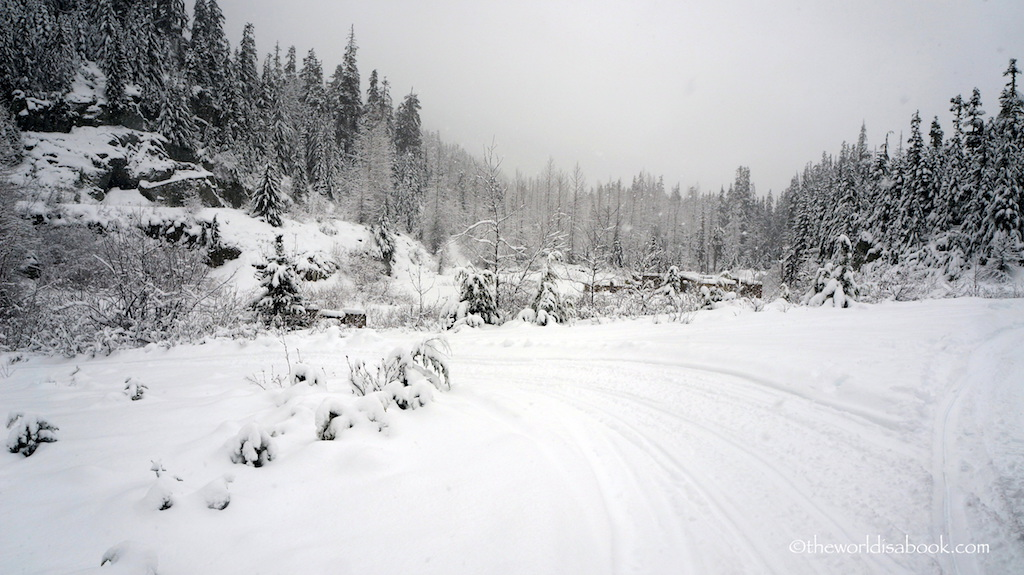 Whistler snowmobile road