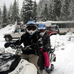 A Snowmobile Tour in Whistler, BC, Canada