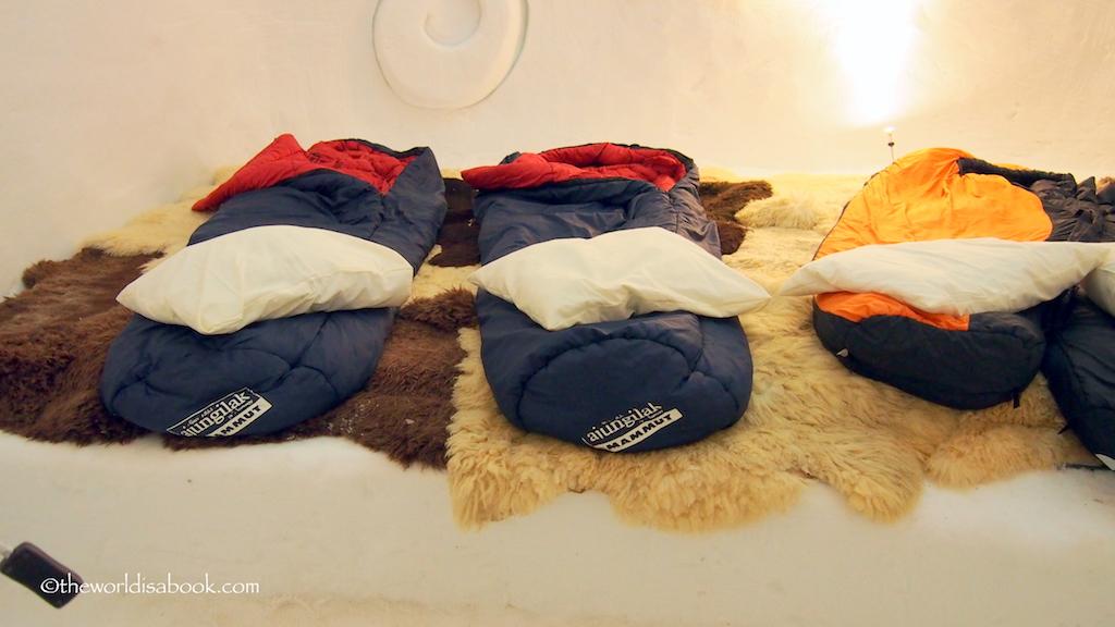 Engelberg iglo village bedroom