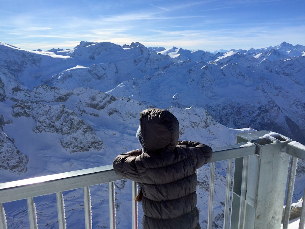 Mt Titlis with kids
