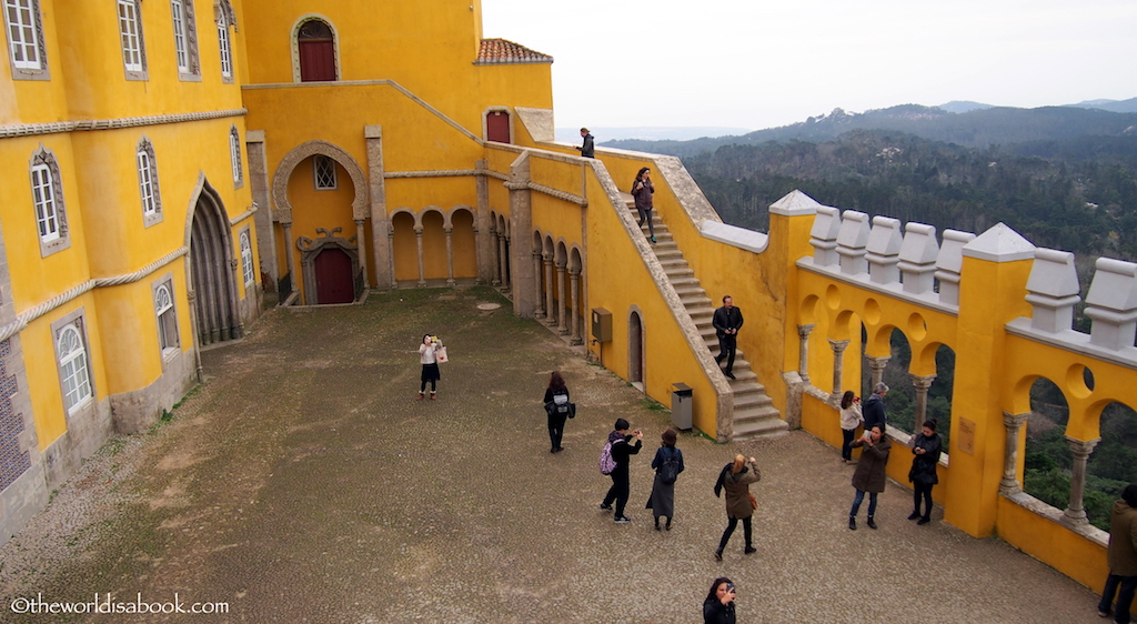 Pena Palace courtyard