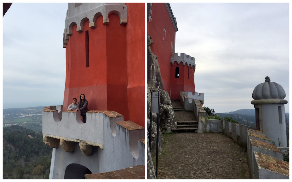 Pena Palace caste wall walk
