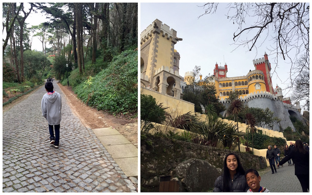 Pena Palace with kids