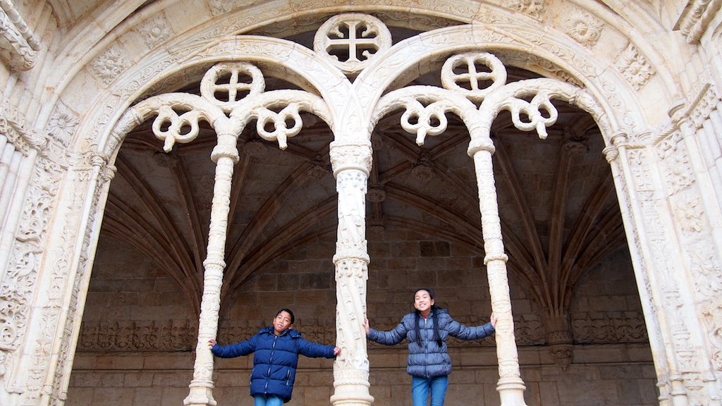San Jeronimos Monastery with kids