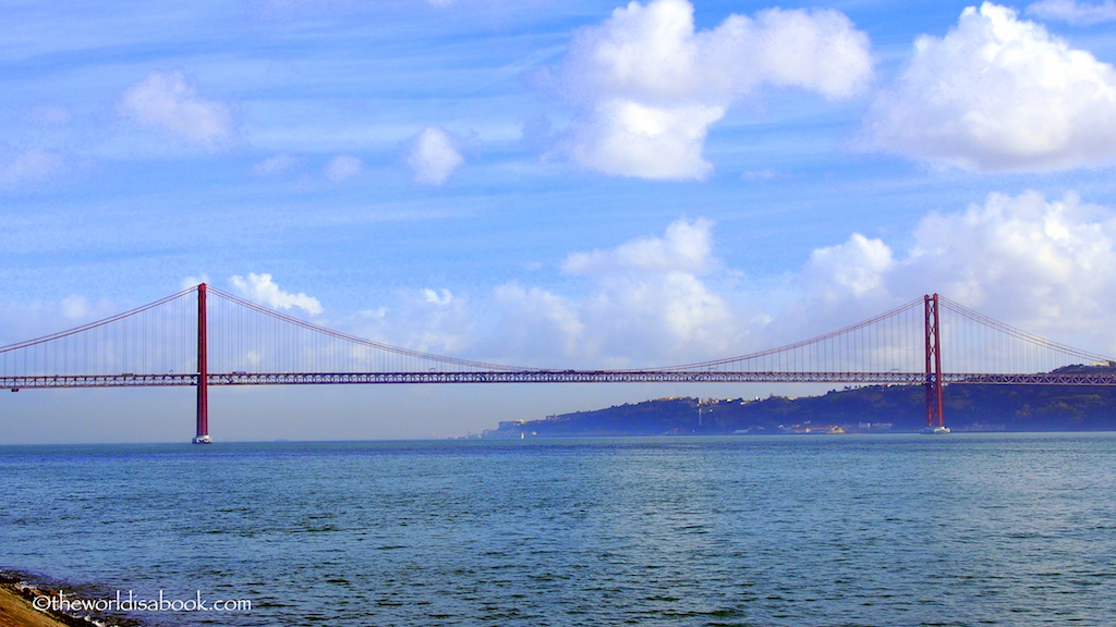 25th of April Bridge or Ponte 25 de Abril suspension bridge Lisbon