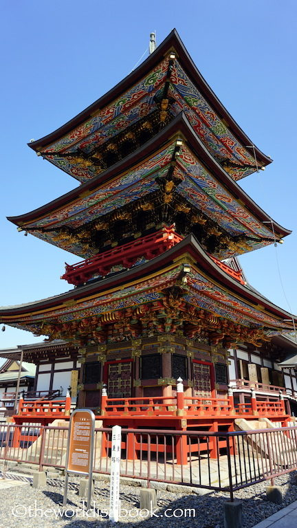 Naritasan temple Three story pagoda