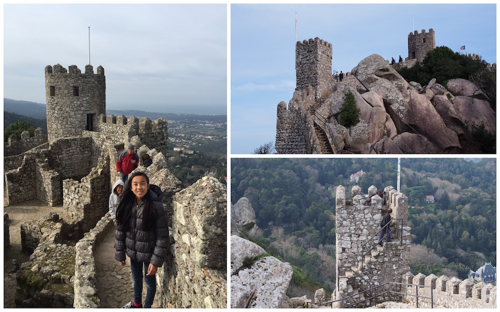 Sintra Moorish Castle with kids