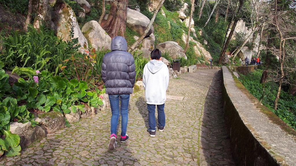 Moorish Castle path to entrance