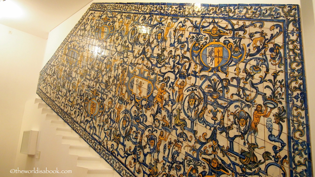 Lisbon Tile Museum decorated stairway