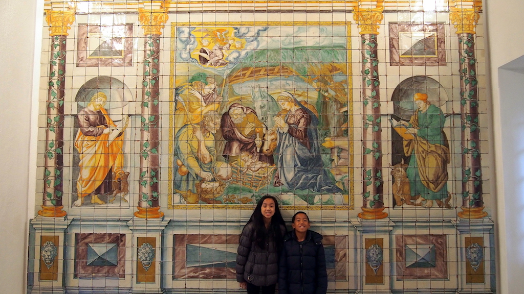 Lisbon Tile Museum with kids