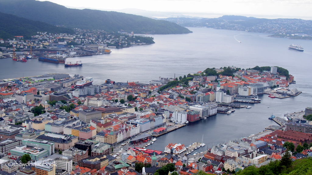 Bergen Harbor from Mount Floyen