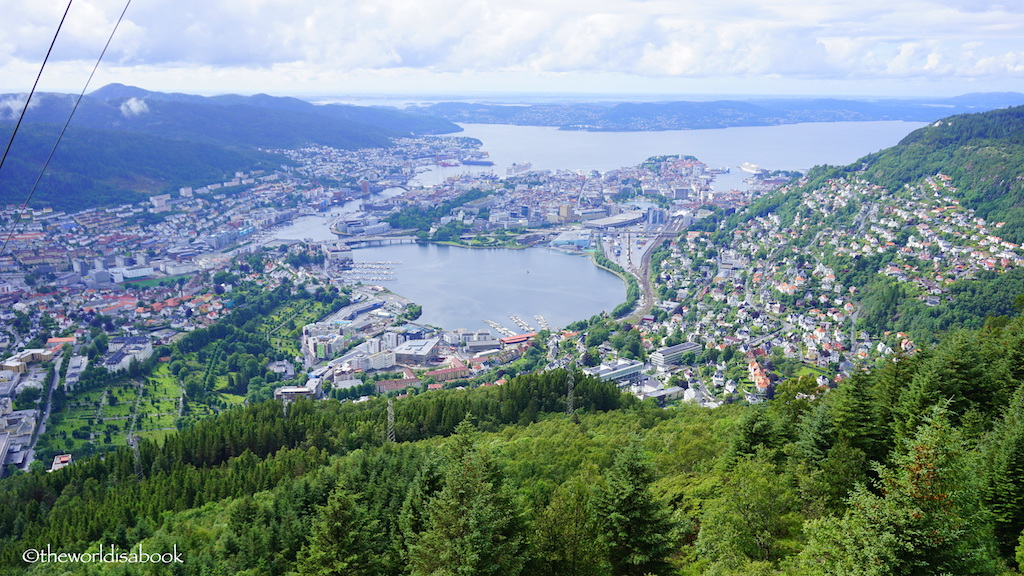Bergen view from Mount Ulriken