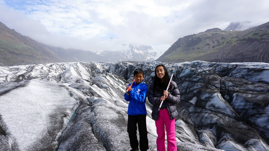 Iceland Glacier Hiking with kids