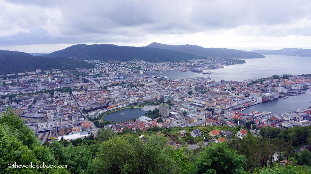 Mount Floyen Bergen view