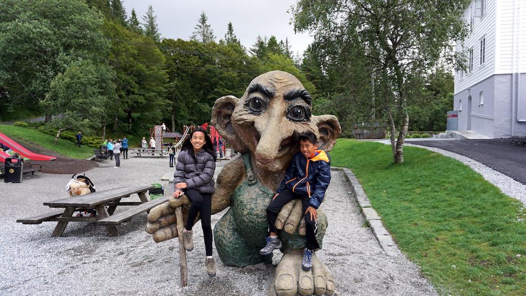 Mt Floyen troll playground