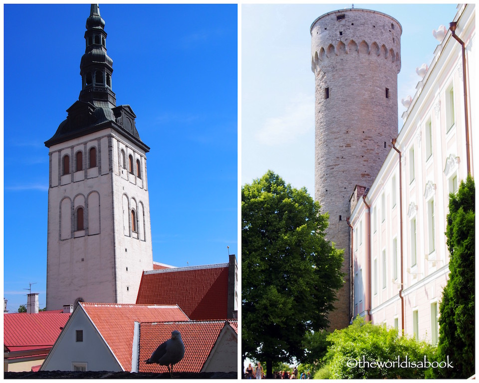 Tallinn Old Town towers