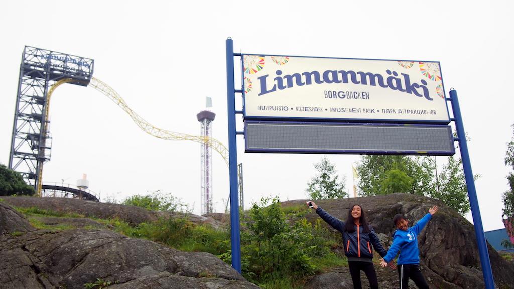 Linnnanmaki Park with kids