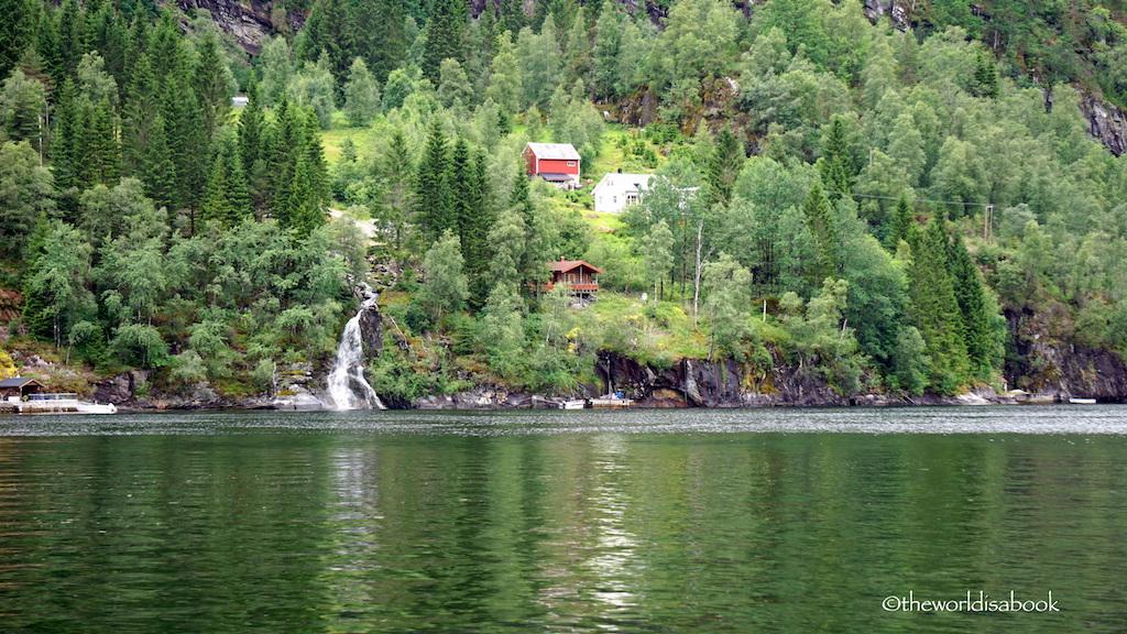 Fjord cruise waterfall